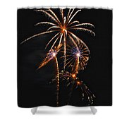 Fireworks 5 Shower Curtain by Michael Peychich