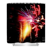 Fireworks Abstract #8 Shower Curtain