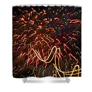 Fireworks Against The Stars Shower Curtain