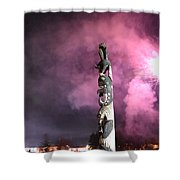 Fireworks And Totem Pole Shower Curtain
