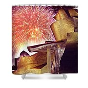 Fireworks At Guggenheim Shower Curtain