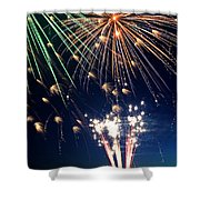 Fireworks At Maple Creek Shower Curtain