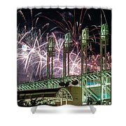 Fireworks At The Jake Shower Curtain