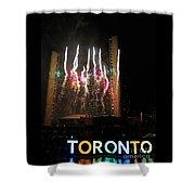 Fireworks At Toronto City Hall Shower Curtain