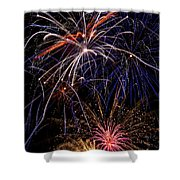 Fireworks Celebration  Shower Curtain