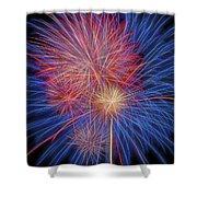 Fireworks Celebration Glow Square Shower Curtain