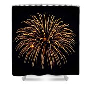 Fireworks - Gold Dust Shower Curtain