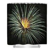 Fireworks Green Flower  Shower Curtain