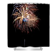 Fireworks IIi Shower Curtain by Christopher Holmes