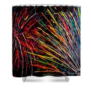 Fireworks In Bled Shower Curtain