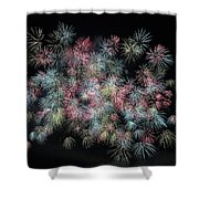 fireworks in Japan Shower Curtain