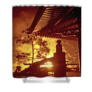 Fireworks, Japan Pavilion, Epcot, Walt Disney World Shower Curtain
