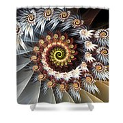 Fireworks Of Isis Shower Curtain by Amorina Ashton