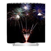 Fireworks Over Lake #14 Shower Curtain
