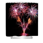 Fireworks Over Lake #15 Shower Curtain