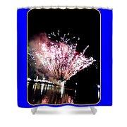 fireworks over San Rafael lake Shower Curtain