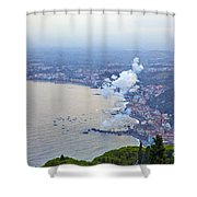 Fireworks Over Sicily Shower Curtain