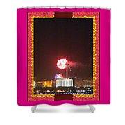 Fireworks Over The Las Vegas Strip Shower Curtain