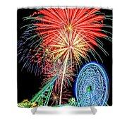 Fireworks-wildwood Nj Boardwalk Shower Curtain