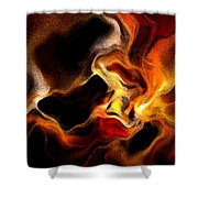 Firey Shower Curtain