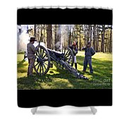 Firing The Cannon Shower Curtain