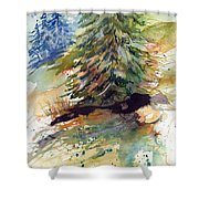Firs On The Hill Shower Curtain