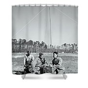 First African American United States Marines 1942 Shower Curtain