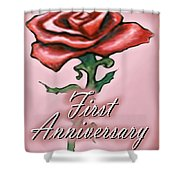 First Anniversary Shower Curtain