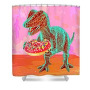 First Bite Shower Curtain