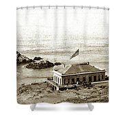 First Cliff House  View Of Ropes From The Cliff House To Seal Rock Circa 1865 Shower Curtain