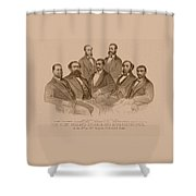First Colored Senator And Representatives Shower Curtain