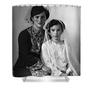 First Communion And Mom Shower Curtain