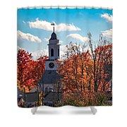 First Congregational Church Of Southampton Shower Curtain by Sven Kielhorn