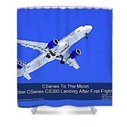 First Cseries Cs300 First Flight Shower Curtain