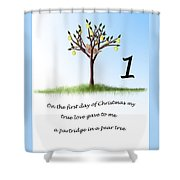 First Day Of Christmas Shower Curtain