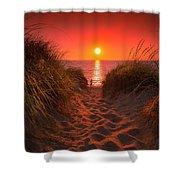 First Encouter Beach Sunset September 2017 Shower Curtain