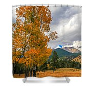 First Fall Colors In Rocky Mountain National Park Shower Curtain