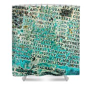 First Infantry Division Memorial Plaque Shower Curtain