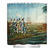 First Landing Of Christopher Columbus Shower Curtain
