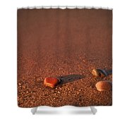First Light Apostle Islands Natl Lakeshore Shower Curtain