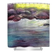 First Light At Hulihee Shower Curtain