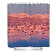 First Light Colorado Rocky Mountains Panorama Shower Curtain