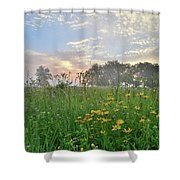 First Light In Glacial Park Shower Curtain