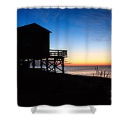 First Light On Beach Road, Falmouth Shower Curtain