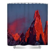 First Light On Cerro Torre - Patagonia Shower Curtain
