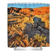 First Light On Valley Of Fire State Park Shower Curtain