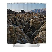 First Light Over Alabama Hills California Shower Curtain