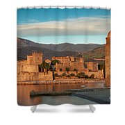 First Light Over Collioure Shower Curtain
