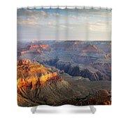 First Light Over Grand Canyon, Arizona, Usa Shower Curtain