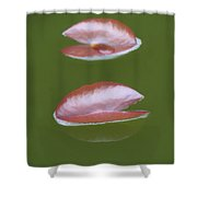 First Lily Pads - Brush Strokes Shower Curtain